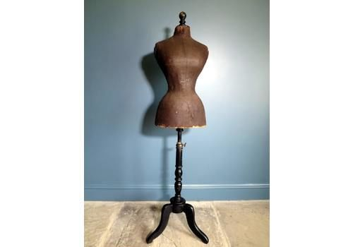 1880s French Victorian Wasp Waist Mannequin (40in)