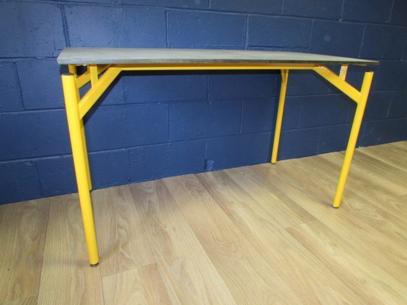 Upcycled Industrial School Art Table