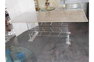 Thumb substantial vintage lucite table 0