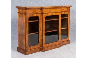 Thumb antique rosewood breakfront bookcase 0