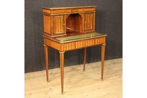 Thumb french louis xvi style writing desk in inlaid wood 0