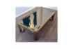 Vintage Brass Coffee Table 1970s photo Furniture