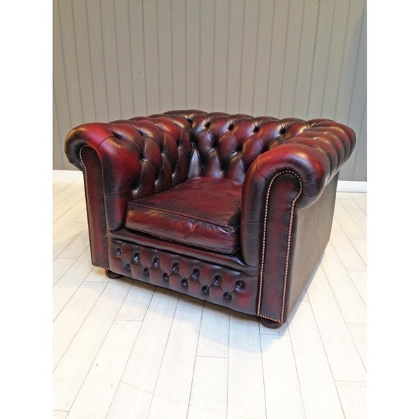 Oxblood Chesterfield Club Chair