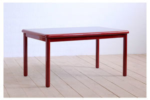 Thumb 1990 s italian modernist table red by giovanni al natisoni for montina s p a 0