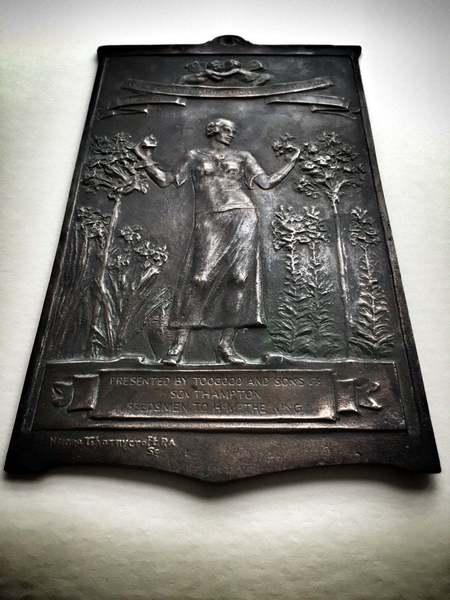 Art Nouveau Bronze Plaque By Sir Hamo Thornycroft Ra, 1900