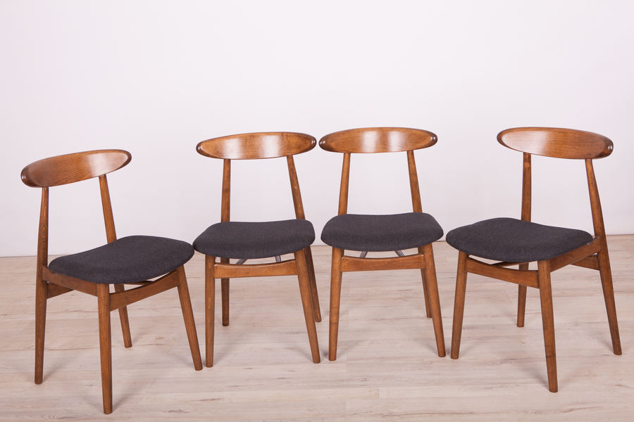 Dining Chairs By Rajmund Teofil Hałas, 1960s, Set Of 4