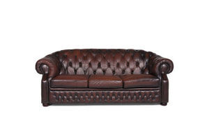 Thumb centurion leather sofa brown three seater chesterfield 10477 unknown 0