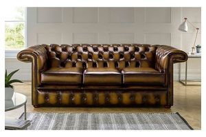 Thumb chesterfield 1857 hockeystick leather sofa 3 seater antique gold 0