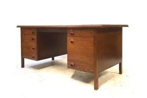 Thumb rare vintage mid century 1950s edward wormley dunbar mid oak executive desk 0