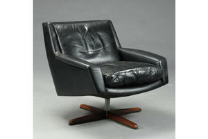 Thumb vintage retro danish esa leather and rosewood lounge chair 1970 s 0