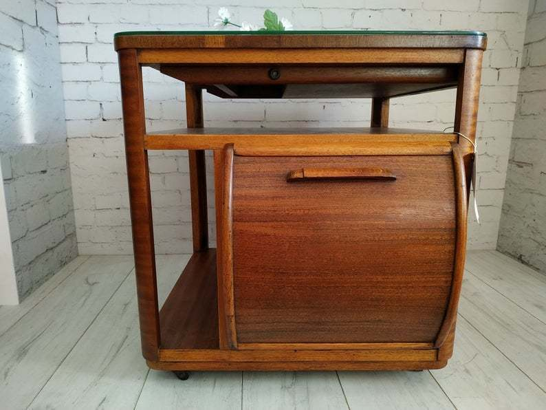 Utility Incorporall Art Deco Drinks Cabinet Trolley Coffee Table Teak Marquetry Rare Incorporall Vinterior