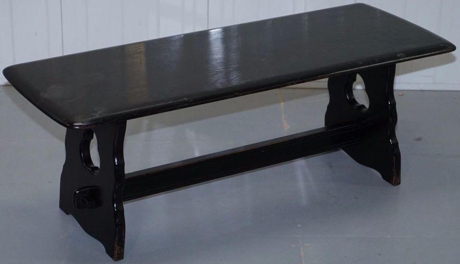 Cool Vintage Mid Century English Oak Ebonised Black Bench Cira 1950S Coffee Table Spiritservingveterans Wood Chair Design Ideas Spiritservingveteransorg