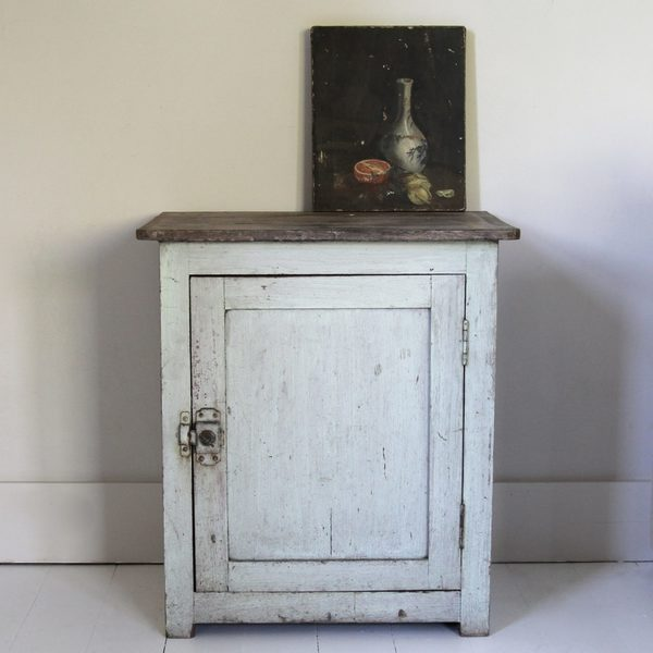 Charming Antique Painted French Cupboard