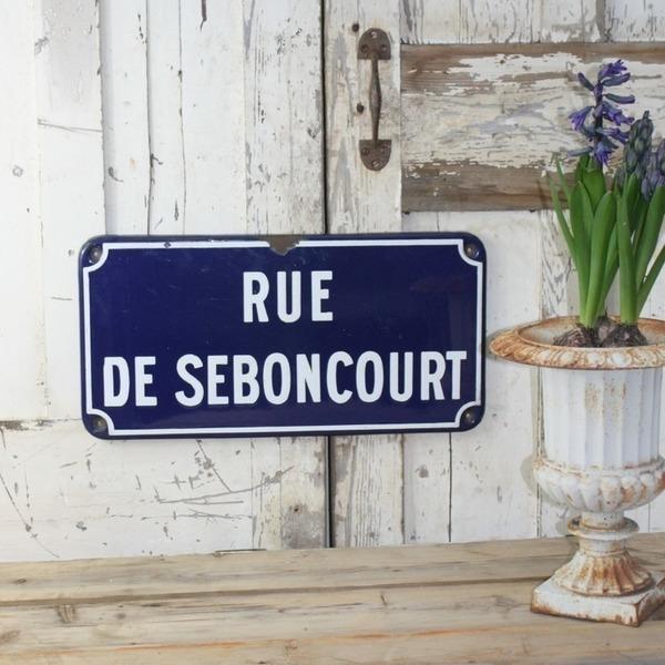Original French Enamel Road Sign
