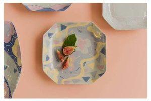 Thumb vintage contemporary 1980s ceramic studio pottery octagonal serving bowl platter 1980s 0