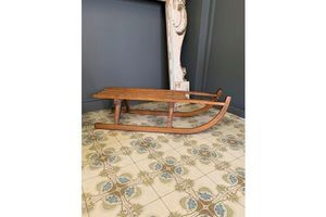 Thumb vintage wooden sledge unknown 0