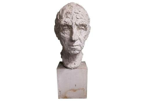 Mid 20th Century Plaster Bust Of A Man, Signed Sloimovici Dated 1952