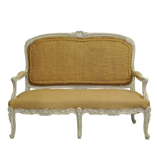 White Painted Louis Xvi Style Settee, French 19th Century