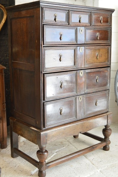 19th Century Jacobean Revival Chest Of Drawers
