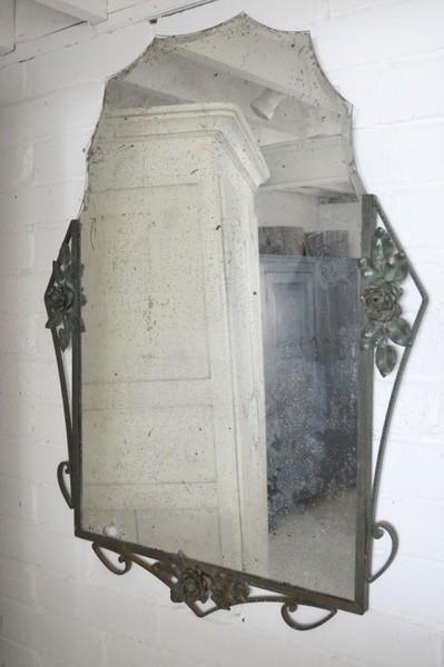 1950s French Iron Mirror