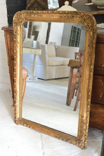 19th Century Overmantle Mirror