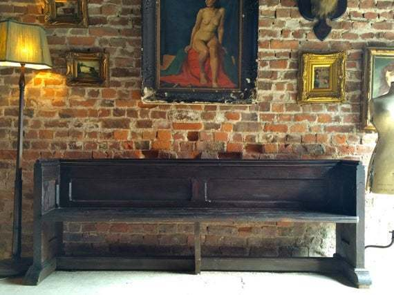 Fabulous Antique Church Pew Settle Bench Victorian 19th Century