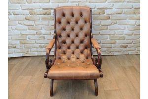 Thumb luxury tan leather slipper armchair 0