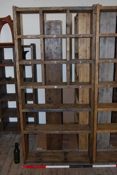 Pigeon Holes Bookcase Shelves Half Half