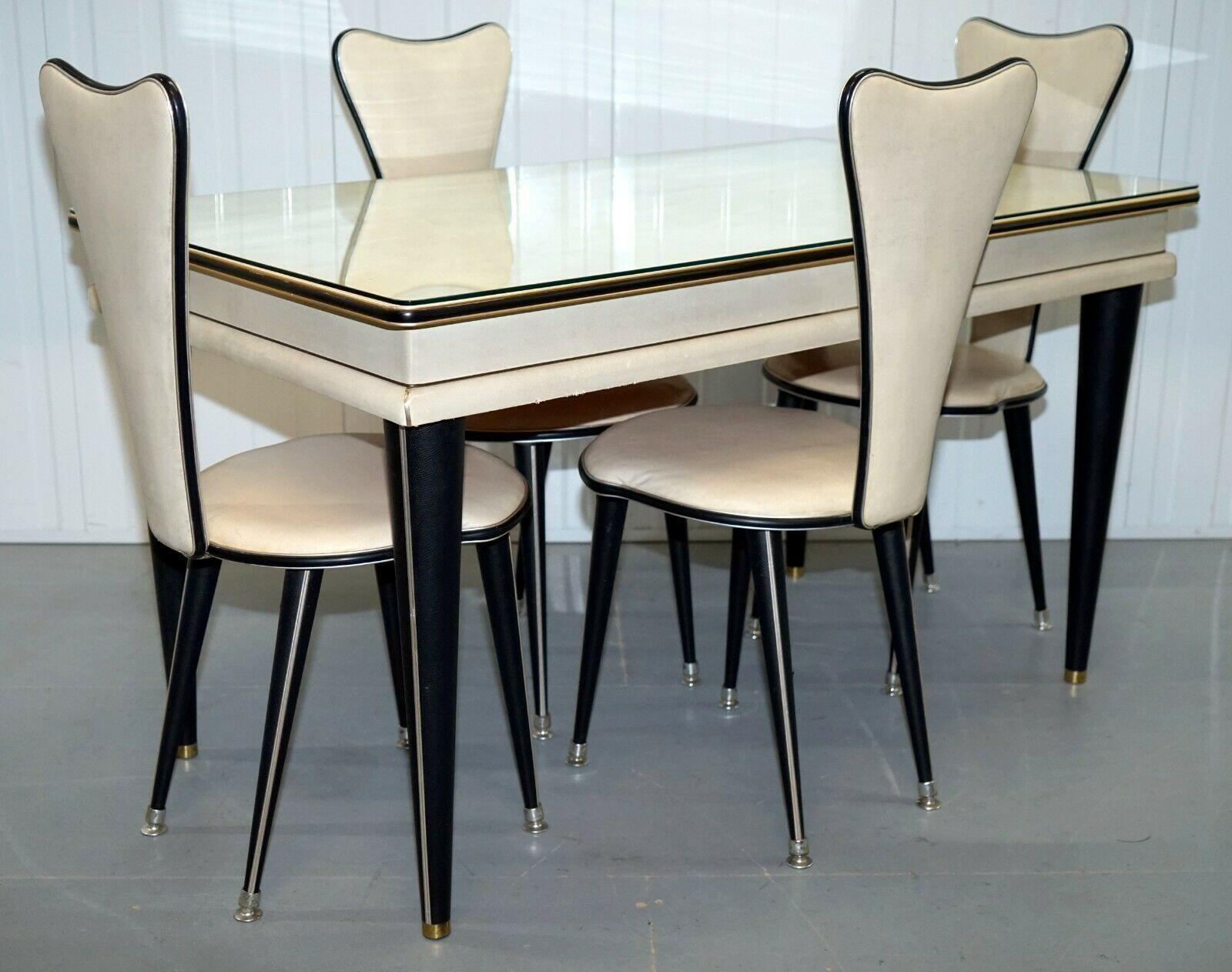 Umberto Mascagni 1950s Credenza Dining Table Chairs Sideboard Also Available Humberto Mascagni Vinterior