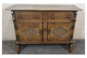 Thumb oak sideboard with carved decoration titchmarsh goodwin 0