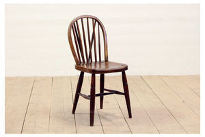 Thumb antique victorian rustic solid oak stick back windsor kitchen dining chair 0