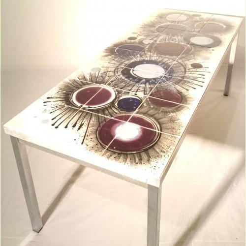 Starburst Vigneron Tile Topped Vintage Coffee Table