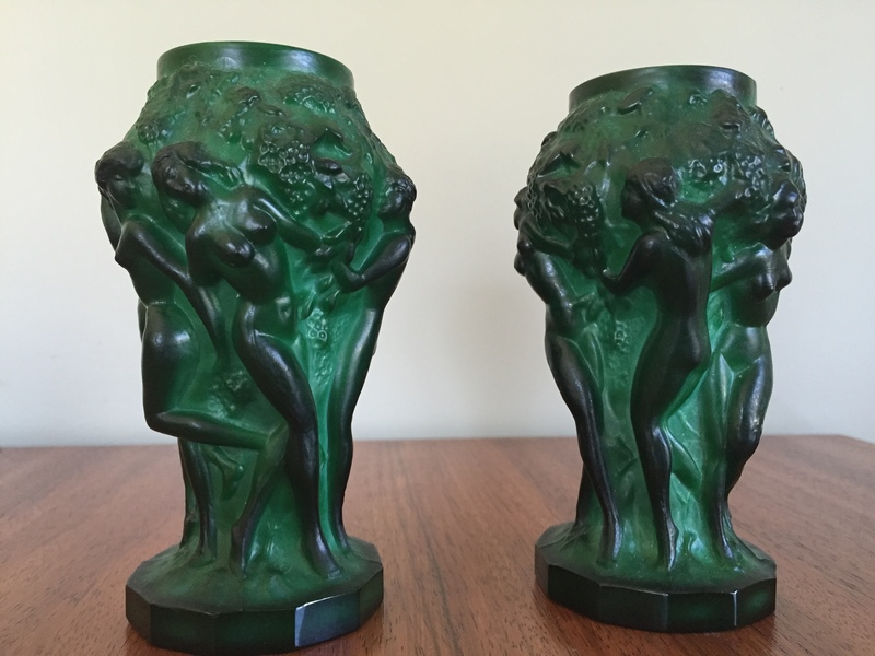 Pair Of Malachite Vases