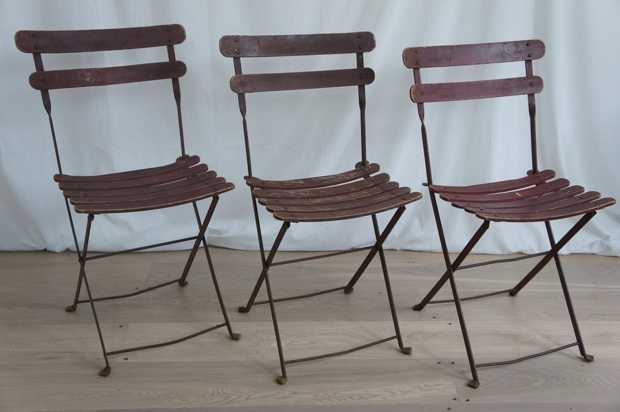 Set Of 29 French Folding Bistro Chairs