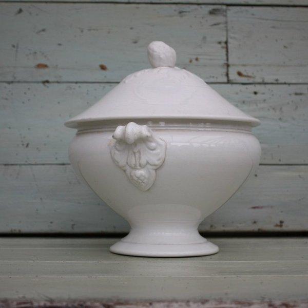 Antique French White Ironstone Tureen