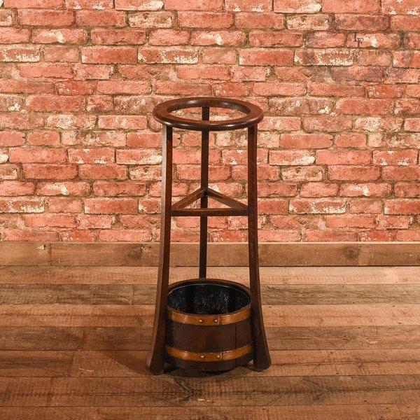 Edwardian Oak Stick Stand, R.A. Lister & Co, C.1910