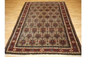 Thumb antique abedeh rug with zili sultan design large rug size circa 1900 0