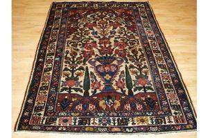 Thumb antique bakhtiari rug of vase and garden design circa 1900 20 0