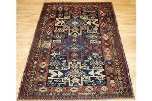 Thumb antique caucasian shirvan rug with lesghi star design circa 1890 0