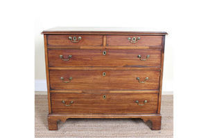 Antique Georgian Chest Of Drawers George Iv 19th Century Mahogany Petite photo