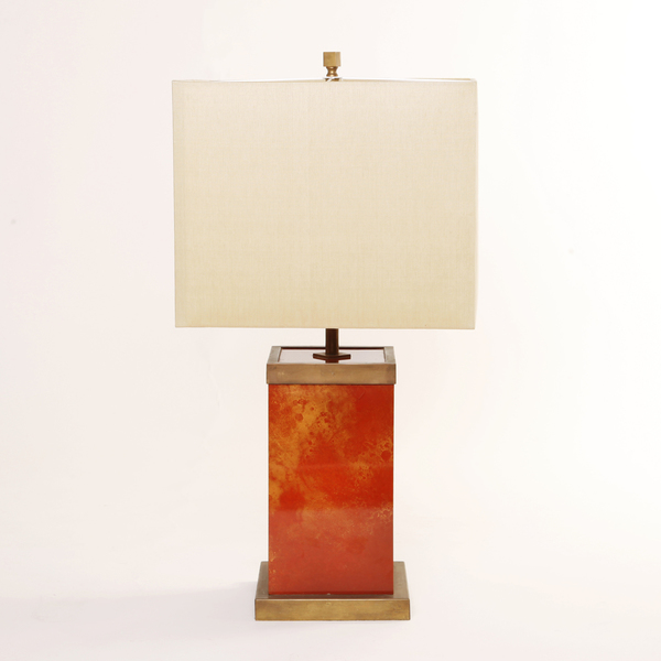 Signed Romeo Rega Lacquered Brass Table Lamp photo 1