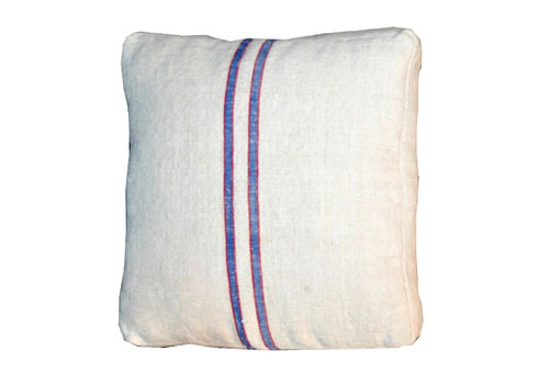 Blue  Red Striped Pillow