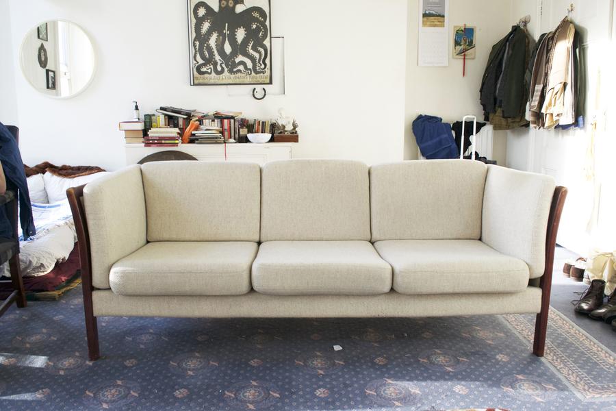 Superb Danish Mid Century Modern 1970's Stouby Danish 3 Seater Sofa