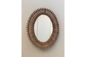 Thumb audoux minet interesting oval rattan mirror 0