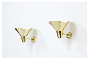 Thumb brass wall lamps by hans bergstrom for atelje lyktan 0