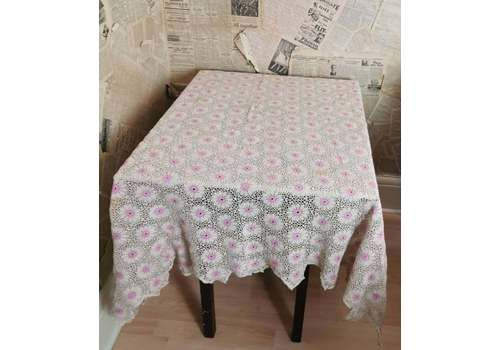 Vintage Crochet Tablecloth And Tray Cloths, 1930s Table Linen