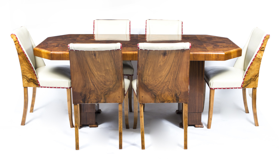 Art Decor Burr Walnut Dining Set