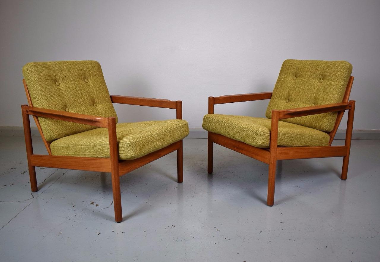 Pair of mid century Scandinavian