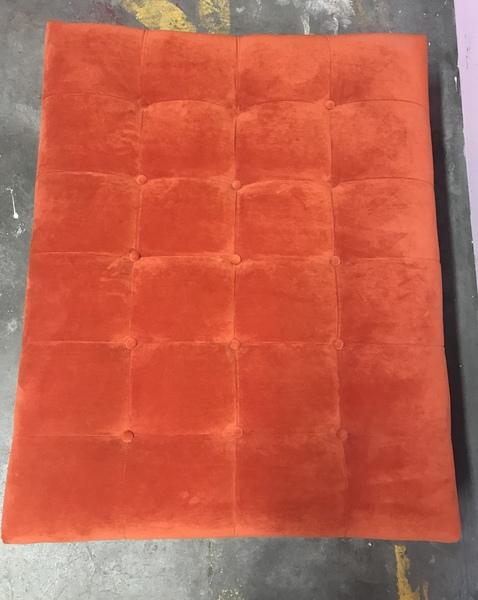 Burnt Orange Footstool Ottoman Coffee Table Barcelona Style Vinterior