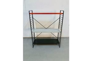 Vintage Metal Shelving Unit By A. D. Dekker For Tomado, 1960s photo